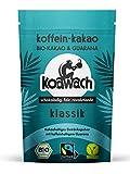 koawach Klassik Kakaopulver Trinkschokolade – Koffein Kakao Guarana Vegan heiße Schokolade Getränk weniger Zucker Rohrohrzucker Energy Drink Backkakao Bio Fairtrade (100g)