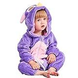 MICHLEY Bebé Ropa Niños Niñas Pijama Disfraces Primavera Franela Traje Animales Pelele maotouying-90cm