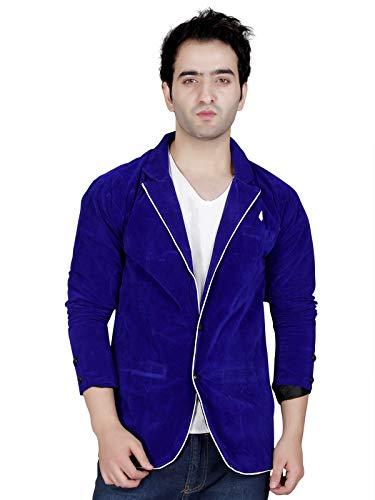 Garun Blue Single Breasted Blazer for Men