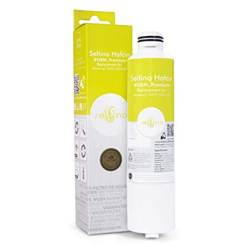 Seltino HAFCIN Premium waterfilter - vervanging voor Samsung DA29-00020B, HAFCIN/EXP, HAF-CIN/EXP. Extra capaciteit. WQA-gecertificeerd.