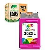 COLORETTO Cartucho de Tinta Remanufacturado para HP 303XL 303 XL (1 Tricolor) Compatible con HP Tango, Tango X, Envy Photo 6220 6230 6232 6234 7130 7134 7830 Impresoras