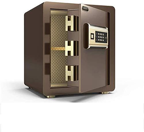 Insurance kabinet Kluizen, 40m Electronic Password Safe met alarmfunctie All Steel Lock Box Kassa Document Box Home Office Enterprise Bank Hotel Kluis (Color : Brown)