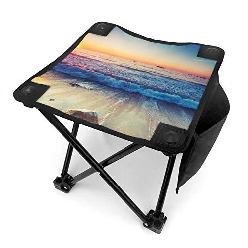End Nazi Tabouret de Camping Chaises Pliantes Sunset Beach Siège de Chaise Portable Bleu