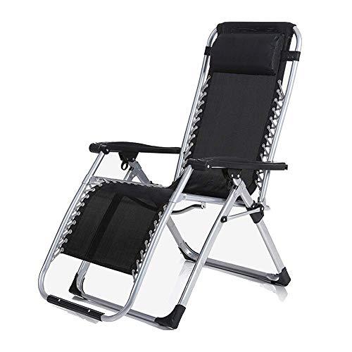 Cómoda Hamaca, sillón reclinable Plegable, Silla de Ocio Cama Plegable Oficina para...