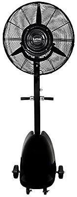 "Luma Comfort MF26B High Power Misting Fan – All Metal 26"" with 1000 Sq Ft Cooling & 5 Gal Tank"