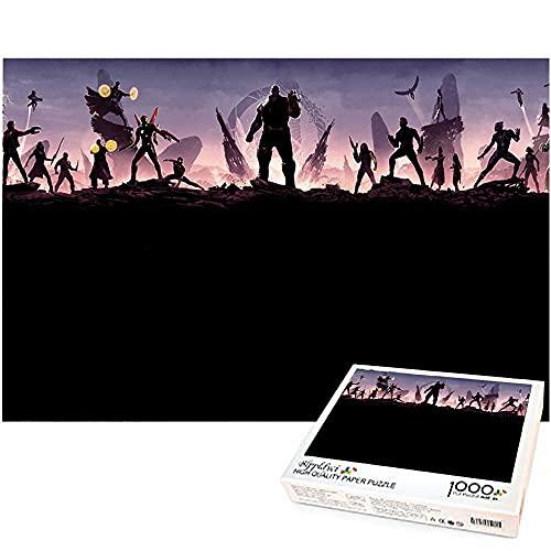 Thanos Puzzle 1000 piezas de arte The Avengers 1000 piezas Puzzles Jigsaw Regalos de cumpleaños para amantes y amigos Marvel hero 52x38cm