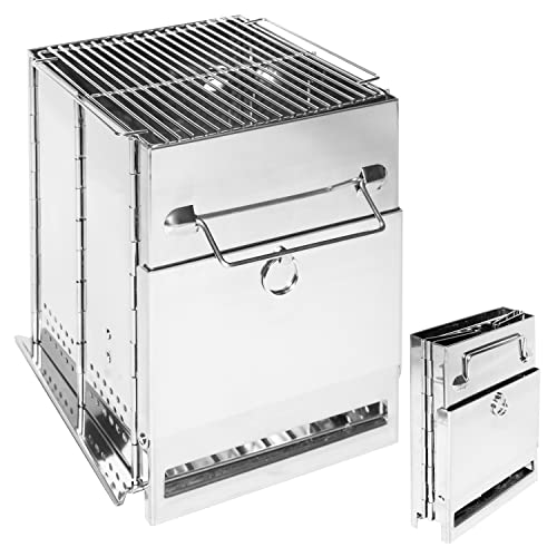 バーベキューコンロ 焚き火台 キャンプ用品 ミニ コンパクト 収納袋付き 折りたたみ ステンレス製 アウトドア ソロキャンプ