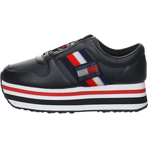 Tommy Hilfiger Damen Customize Flatform Sneaker Sneaker Größe 42 EU Blau (blau)