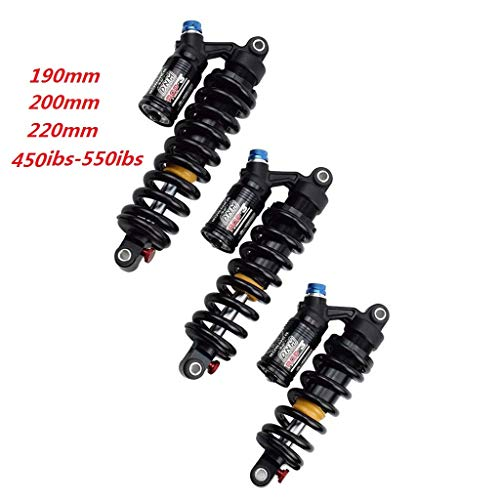 LiRongPing DNM RCP-3 RCP2S Rear Shock Absorber Durable Adjustable Suspension Shocks Spring Mountian Bike Downhill MTB Bicycle DNM rpc3 (Color : 450 lbs, Size : 200mm)