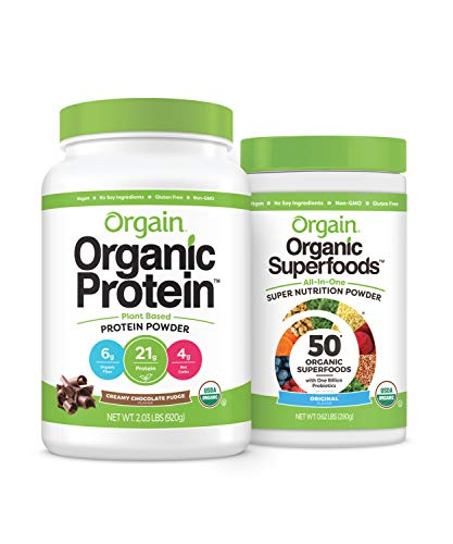 Orgain Original Superfoods and Chocolate Protein Powder
