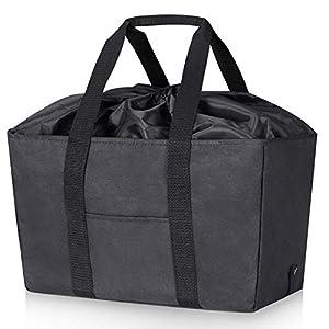LHZK エコバッグ レジかごバッグ 保冷ショッピングバッグ レジかごサイズ 保冷 買い物バッグ 大容量 30L 折りたたみ 繰り返し使える