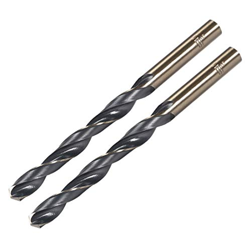 uxcell Reduced Shank Twist Drill Bits 9mm High Speed Steel 4341 with 9mm Shank 2 Pcs