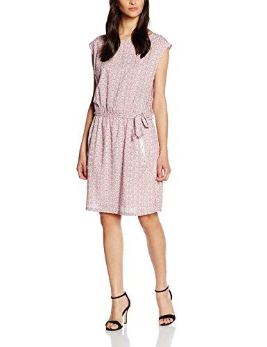 ESPRIT Damen 046EE1E038-mit floralem Druck Kleid, Mehrfarbig (Off White 110), 38