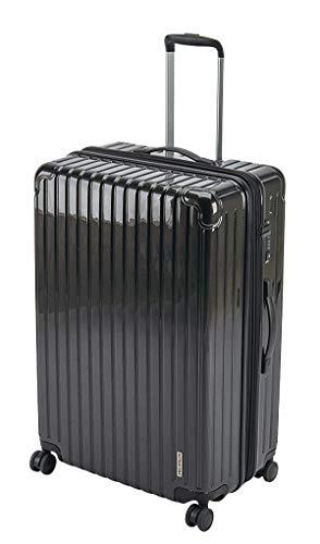 キャプテンスタッグ(CAPTAIN STAG) スーツケース キャリーケース キャリーバッグ 超軽量 TSAロック ダブルホイール 360度回転 静音 ダブルファスナータイプ Lサイズ ブラック パルティール UV-64