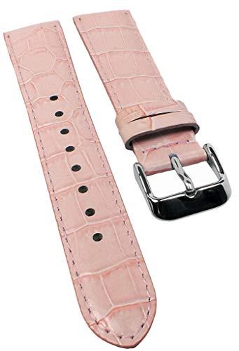 Correa de repuesto para reloj Casio Collection Ladies de piel rosa LTF-119L