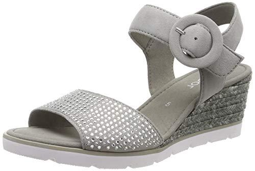 Gabor Shoes Damen Basic Riemchensandalen, Grau (Grau 19), 39 EU
