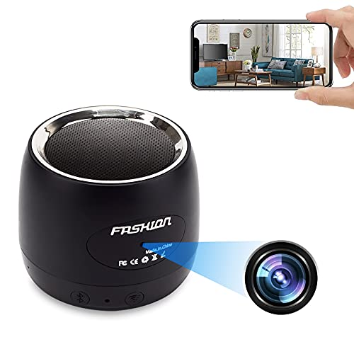 Hidden Camera Bluetooth Speaker Wireless Nanny Cam WiFi HD 1080P Spy CAM with Motion Detection, Stereo Music Player Suitable for Home/Office Security