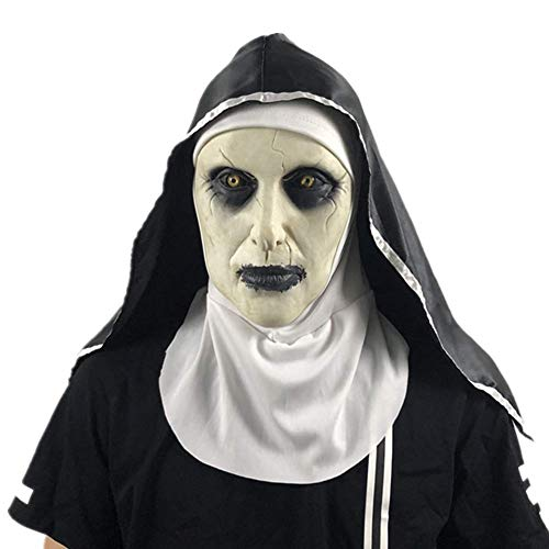 Daxiong Maske Nonne Kopfbedeckungen Geist Grauen Halloween Haunted House Grimasse Scary Movie Props Prom-Maske