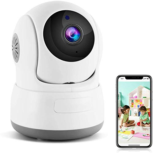 Wireless Security Camera, 720P HD Home WiFi Wireless Security Surveillance IP Camera with Motion Detection Pan/Tilt, 2 Way Audio and Night Vision Baby Monitor, Nanny Cam …