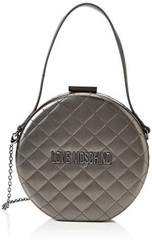 Love Moschino Unisex-Erwachsene Jc4065pp18la0906 Tasche mit Handgelenksgurt, Grau (Fucile), 18x5x18 Centimeters