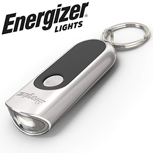 Energizer LED Keychain Flashlight with Touch Technology​, Ultra Bright - Durable Metal Keychain Light, Long-Lasting Battery Life, Compact and Lightweight, Batteries Included
