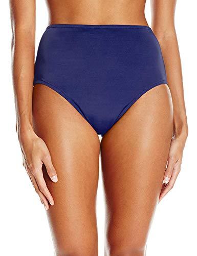 Maxine Of Hollywood Women's High Waist Hipster Bikini Swimsuit Bottom, Navy, 10
