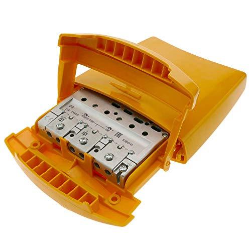 BeMatik - Amplificador de mástil de antena TV 1e 1s FM BIII...