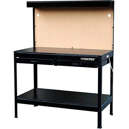 WorkPro Garage Metal Workbench with drawers