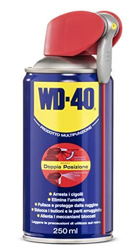 WD-40 Prodotto Multifunzione - Lubrificante Spray con Sistema Professionale Doppia Posizione - 250 ml