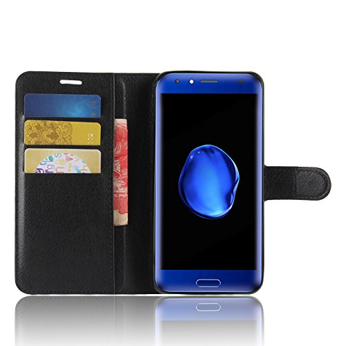 SMTR Doogee BL5000 Custodia, SMTR Doogee BL5000 Wallet Case Cover Leather Flip Cover Magnetic closing Anti-Shock Function with Stand - Nero
