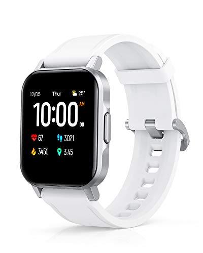 AUKEY Smartwatch, 1,4'' Full Touch 320p Schermo Orologio Fitness Activity Tracker, Impermeabil IP68, Cardiofrequenzimetro, Cronometro Contapassi, Notifiche Messaggi, Controllo della Musica, Bianca