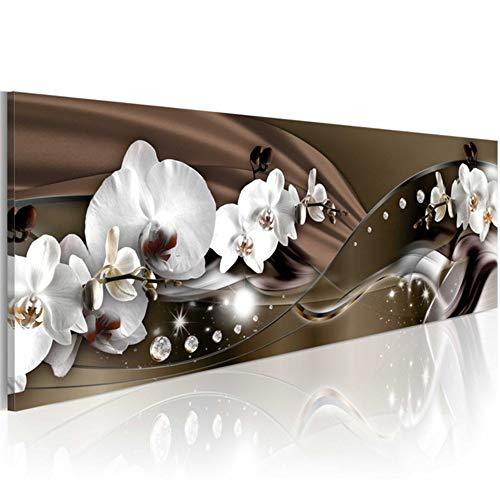 DIY 5D Diamond Painting kits groot formaat mooie bloemen orchideeën wit diamant schilderij boor compleet hars kristal kruissteek borduurwerk woonkamer slaapkamer kunst craft wanddecoratie 80x160cm Vierkante boor