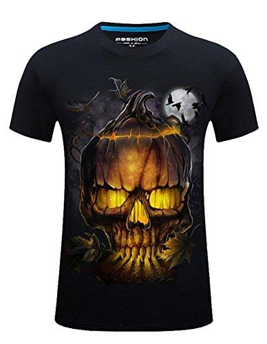 Angcoco Manches Courtes 3D Digital Professional Imprimer Hommes Slim Fit T-shirt