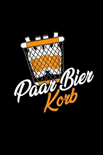 Paar Bier Korb: Notizbuch A5 Kariert | Biergeschenke Notizblock Notizheft