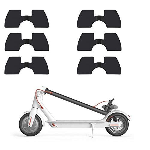 Tinke Pieza de protección de Junta Plegable de Amortiguador de Vibraciones de Goma de 6 Piezas Compatible con Xiaomi Mijia M365 / M365 Pro / M187 Scooter eléctrico Scooter eléctrico