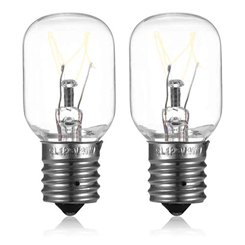 Light Bulb Fits for Whirlpool Microwave Oven - Microwave Light Bulb Compatible with Whirlpool Maytag GE Amana Over The Range Hood Microwave, Stove Light Surface Light Bulb, Replaces WB25X10030