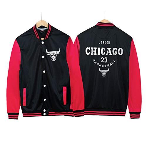 Bulls No. 23 Baseball Uniform männliche Hip-Hop Basketballjacke Bomberjacke Frühling und Herbst Dünnschnitt 1-2XL