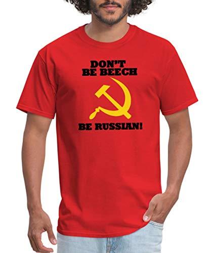 FPS Russia Don't Be Beech Be Russian Men's T-Shirt, 2XL, red