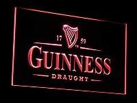 Guinness Vintage LED看板 ネオンサイン ライト 電飾 広告用標識 W60cm x H40cm レッド