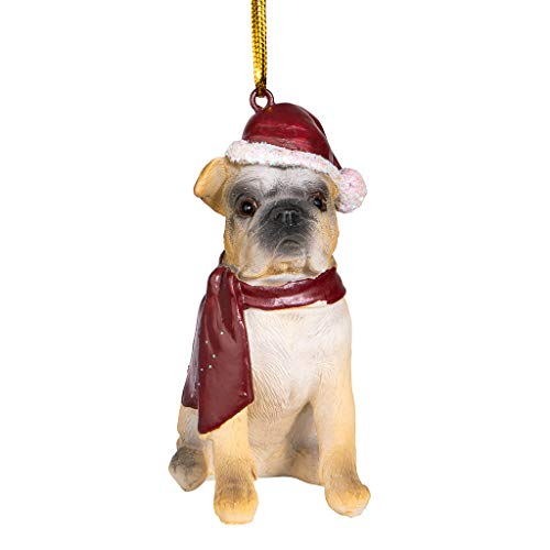 Design Toscano Christmas Ornaments - Xmas Bulldog Holiday Dog Ornaments