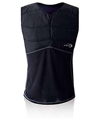 E.COOLINE Powercool SX3 KühlShirt Gr. XL, schwarz mit Nierenschutz Unisex-Erwachsene