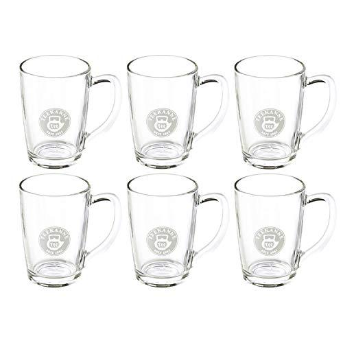 TEEKANNE TEALOUNGE System Henkel, 6er Set Teegläser, Glas, transparent, 8 x 11.5 x 11 cm, 6-Einheiten