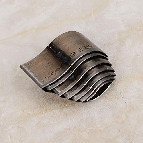 Troqueladora de cuero de 7 piezas, forma de hoja, artesanía de cuero para bricolaje para cinturones, carteras,(A06 (imported knife))