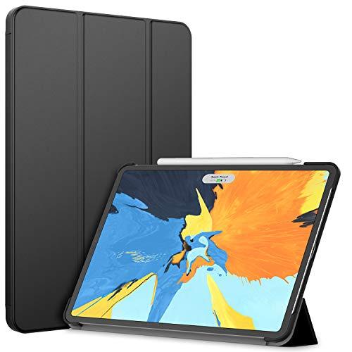 JETech Hülle Kompatibel iPad Pro 11 Zoll (Modell 2020/2018), Kompatibel mit Pencil, Intelligent Abdeckung Schlafen/Wachen, Schwarz