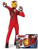 Generique - Cofanetto Classico Iron Man con Guanti per Bambino 5/6 Anni (105/116 cm) Cofanetto Classico Iron Man con Guanti per Bambino 5/6 Anni (105/116 cm)