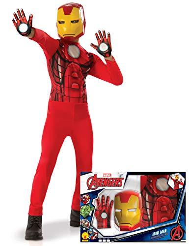 Generique - Iron Man-Kinderkostüm Marvel-Lizenz-Verkleidung rot-gelb 104/116 (5-6 Jahre)