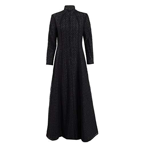Zhangjianwangluokeji Damen Schwarz Lang Kleid Berühmt Film-Charakter Kleid Cosplay Kostüm (Maßanfertigung)