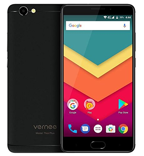 Vernee Thor Plus Mobile Phone 6200mAh Android 7.0 MT6753 Octa Core Cellphone 5.5 Inch 3GB RAM 32GB ROM 4G LTE 13MP Cellphone (Black)