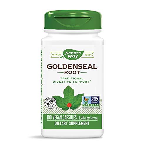 Nature's Way Goldenseal Root 570 mg (100 Capsules)