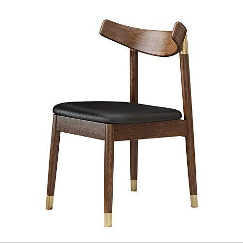 GonFan Moderne open achterkant keuken eetkamerstoelen vrije tijd dining stoel studie massief houten frame boek stoel notenboom moderne meubels